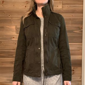 Abercrombie Army Green canvas jacket